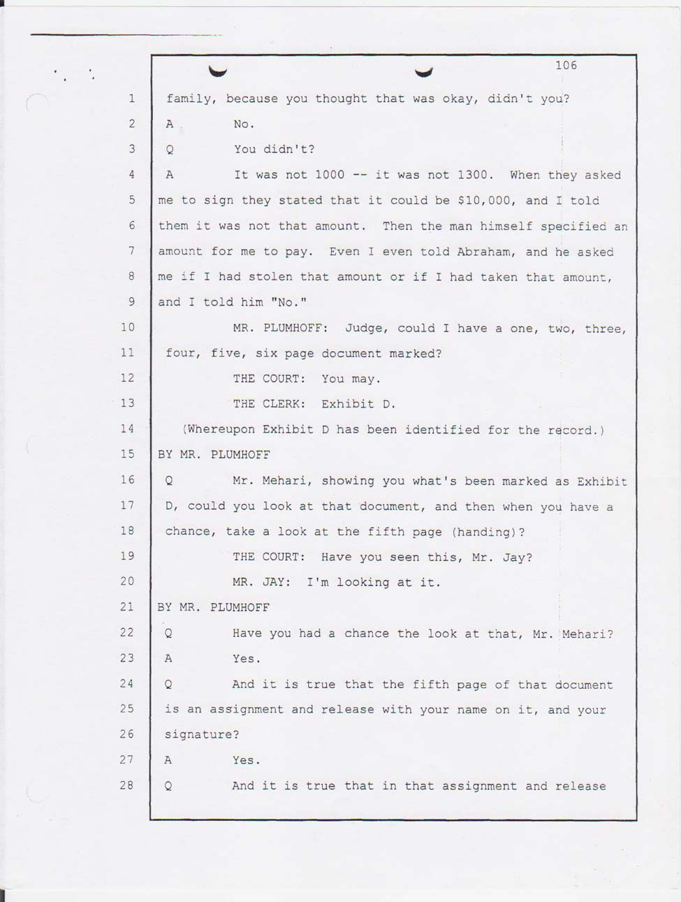 Angesom's court testimony Jan. 23, 2008